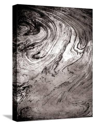 Grey Sea Marble-Jace Grey-Stretched Canvas Print