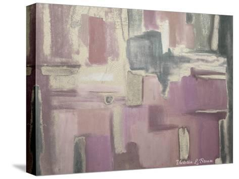 Abstract Soft Pink-Victoria Brown-Stretched Canvas Print