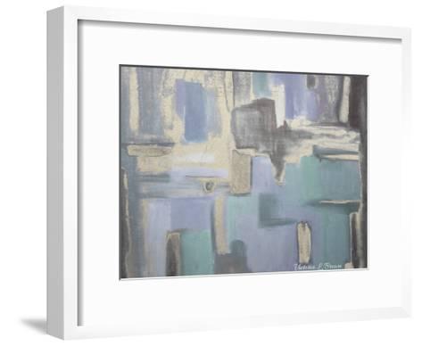Soft Lilac-Victoria Brown-Framed Art Print