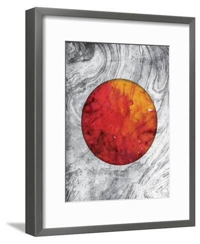 Marble Mars-Jace Grey-Framed Art Print