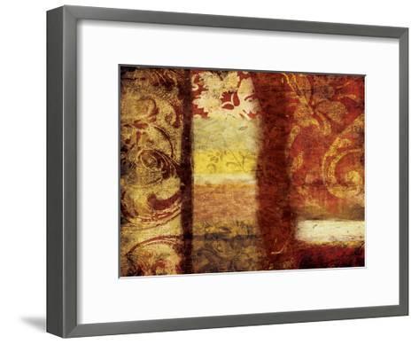 Golden Red Bouquet-Jace Grey-Framed Art Print