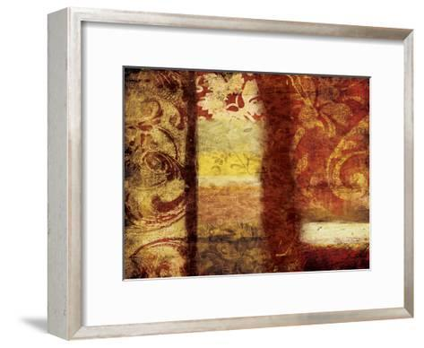 Golden Red Bouquet-Jace Grey-Framed Art Print