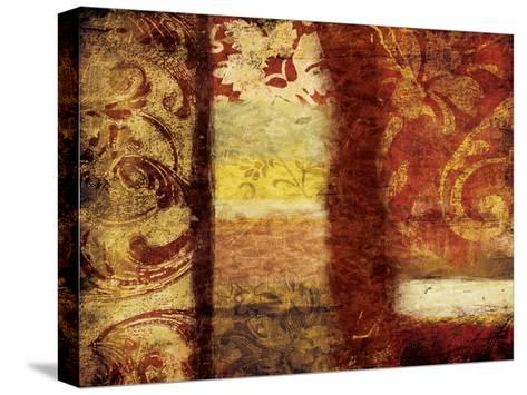 Golden Red Bouquet-Jace Grey-Stretched Canvas Print