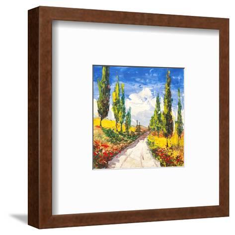 Strada toscana-Luigi Florio-Framed Art Print