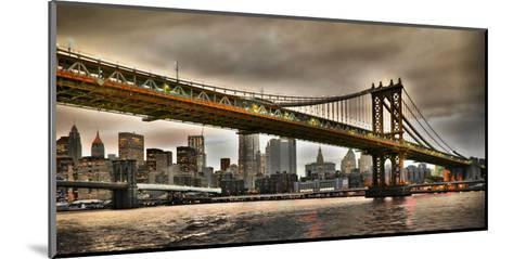 Manhattan Bridge and New York City Skyline, NYC-Vadim Ratsenskiy-Mounted Giclee Print