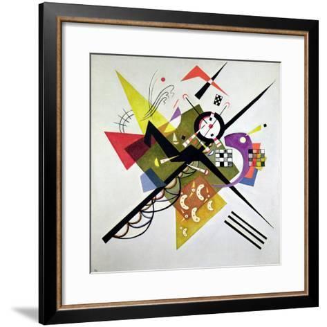On White II-Wassily Kandinsky-Framed Art Print