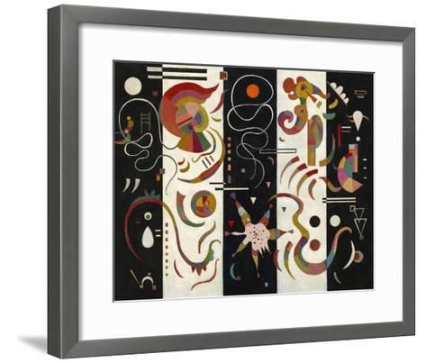 Striped (Raye)-Wassily Kandinsky-Framed Art Print