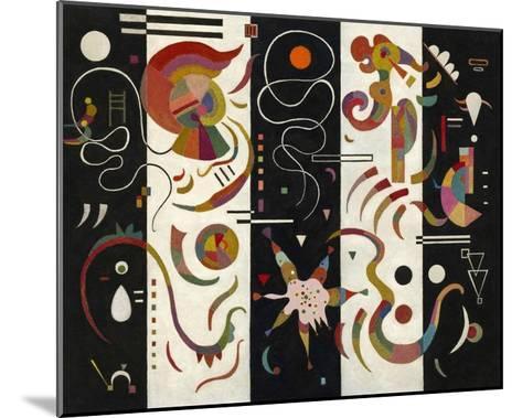 Striped (Raye)-Wassily Kandinsky-Mounted Giclee Print