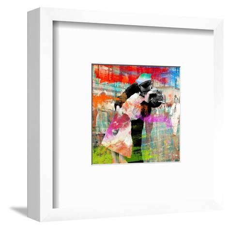 Kissing the War Goodbye 2.0 (detail)-Eric Chestier-Framed Art Print
