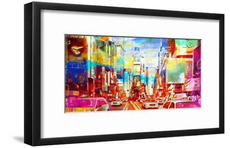Times Square 2.0-Eric Chestier-Framed Art Print