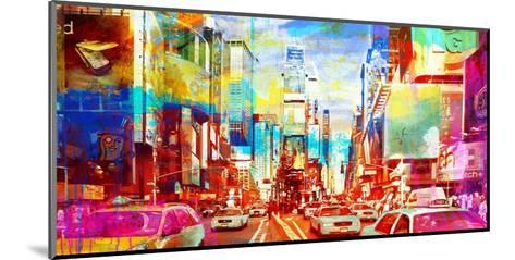 Times Square 2.0-Eric Chestier-Mounted Giclee Print