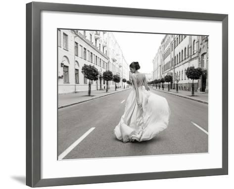 Walking Down a Road-Haute Photo Collection-Framed Art Print