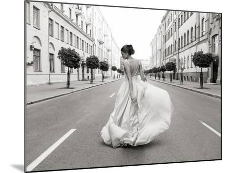 Walking Down a Road-Haute Photo Collection-Mounted Giclee Print