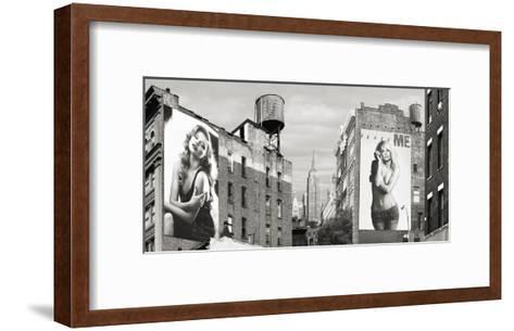 Billboards in Manhattan-Julian Lauren-Framed Art Print