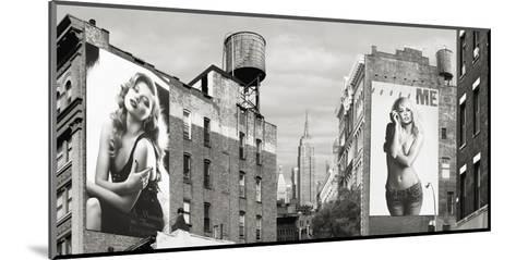 Billboards in Manhattan-Julian Lauren-Mounted Giclee Print