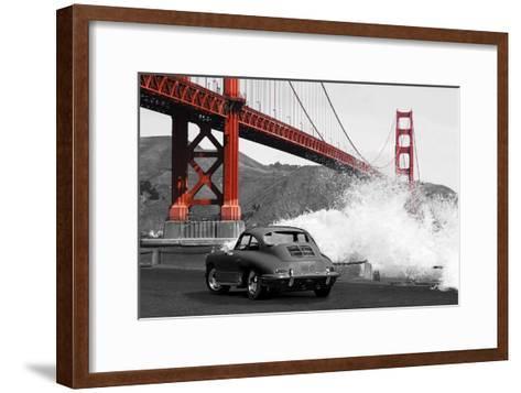 Under the Golden Gate Bridge, San Francisco (BW)-Gasoline Images-Framed Art Print