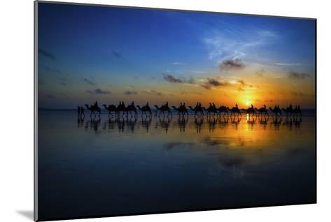 Sunset Camel Ride-Louise Wolbers-Mounted Giclee Print