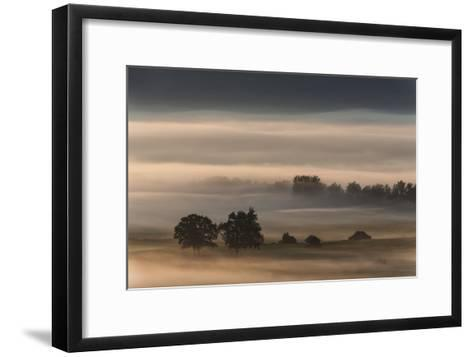 Dense Fog Over The Moos-Nina Pauli-Framed Art Print