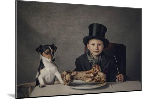 The Dinner-Monika Vanhercke-Mounted Giclee Print