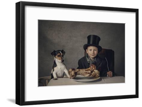 The Dinner-Monika Vanhercke-Framed Art Print