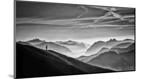 Hunter In The Fog Bw-Vito Guarino-Mounted Giclee Print