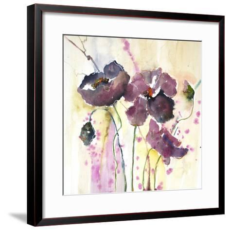 Plum Poppies II-Leticia Herrera-Framed Art Print