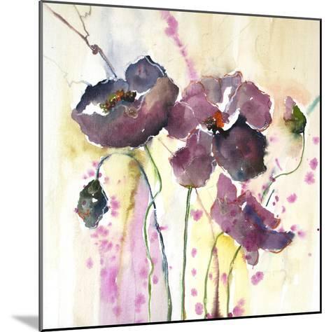 Plum Poppies II-Leticia Herrera-Mounted Art Print