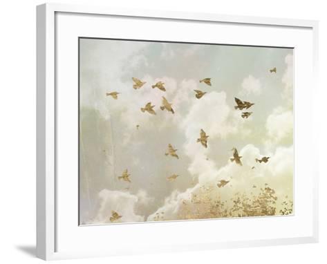 Golden Flight II-Jennifer Goldberger-Framed Art Print