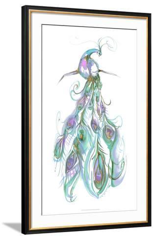 Gilded Peacock Plumes II-Jennifer Goldberger-Framed Art Print