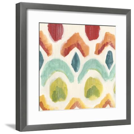 Textile Kaleidoscope I-June Erica Vess-Framed Art Print
