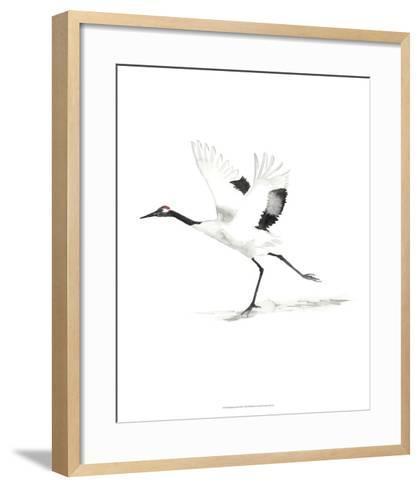 Japanese Cranes III-Naomi McCavitt-Framed Art Print