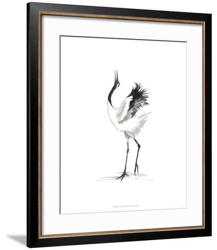 Japanese Cranes IV-Naomi McCavitt-Framed Art Print