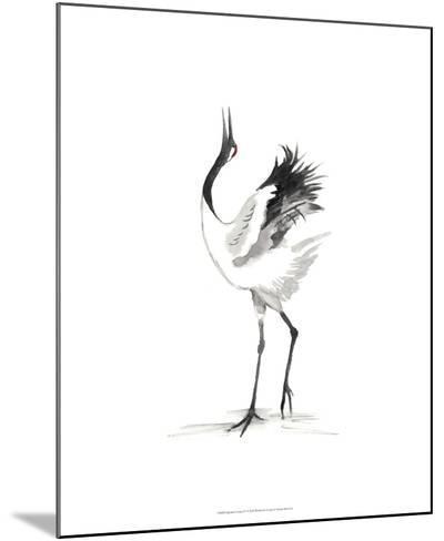 Japanese Cranes IV-Naomi McCavitt-Mounted Giclee Print