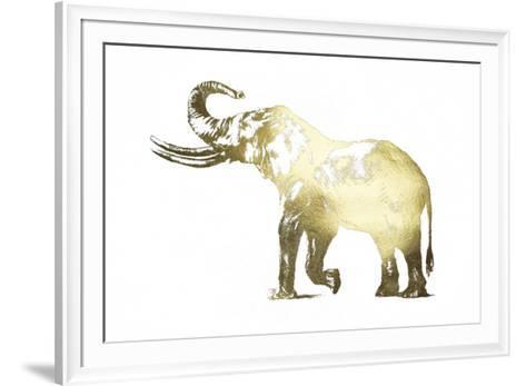 Gold Foil Elephant I-Ethan Harper-Framed Art Print