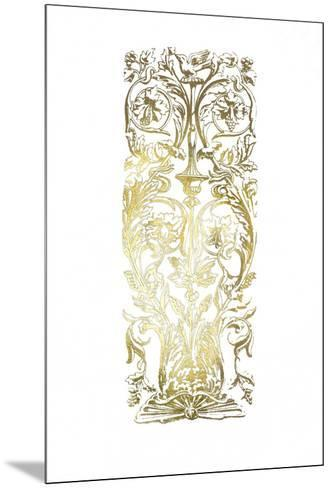 Gold Foil Renaissance Panel I-Owen Jones-Mounted Art Print