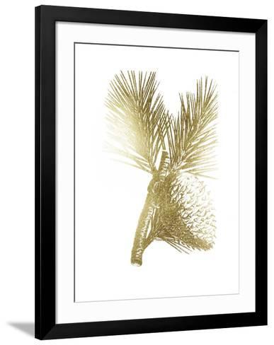 Gold Foil Pine Cones III-Vision Studio-Framed Art Print