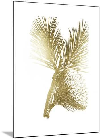 Gold Foil Pine Cones III-Vision Studio-Mounted Art Print