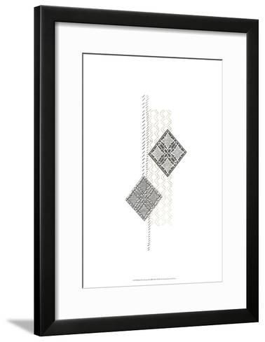 Block Print Composition III-June Erica Vess-Framed Art Print