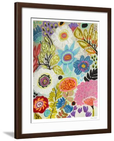 Secret Garden Floral I-Karen  Fields-Framed Art Print
