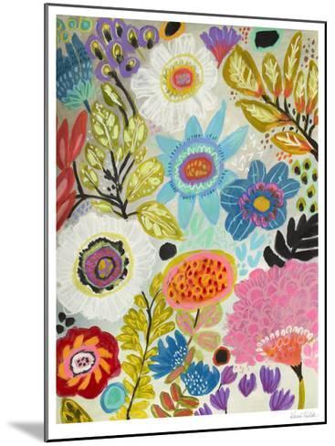 Secret Garden Floral I-Karen  Fields-Mounted Limited Edition
