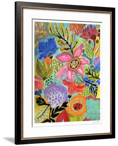 Secret Garden Floral II-Karen  Fields-Framed Art Print