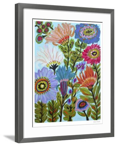 Secret Garden Floral IV-Karen  Fields-Framed Art Print