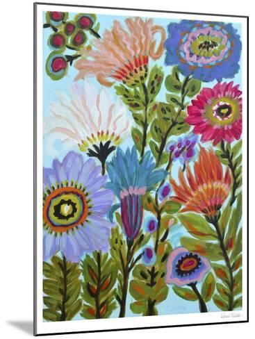 Secret Garden Floral IV-Karen  Fields-Mounted Limited Edition