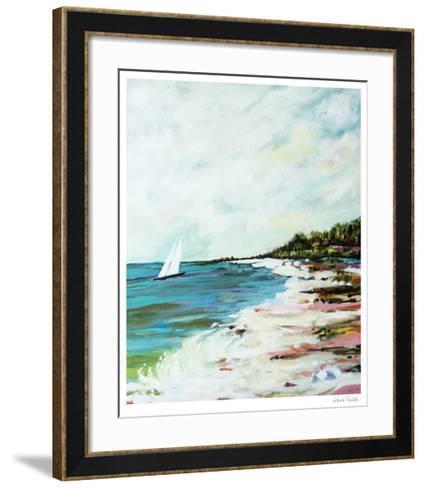 Beach Surf I-Karen  Fields-Framed Art Print