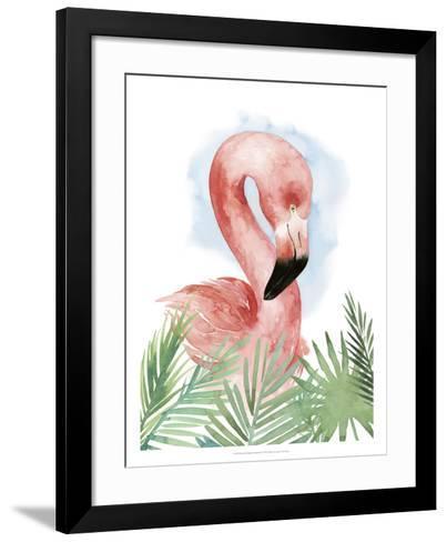Watercolor Flamingo Composition I-Grace Popp-Framed Art Print