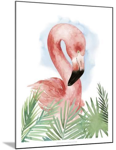 Watercolor Flamingo Composition I-Grace Popp-Mounted Giclee Print