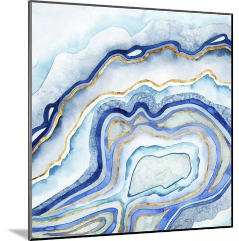 Cobalt Agate II-Grace Popp-Mounted Art Print