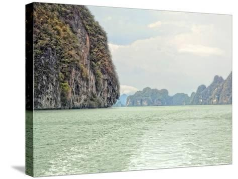 Exotic Waters V-Golie Miamee-Stretched Canvas Print