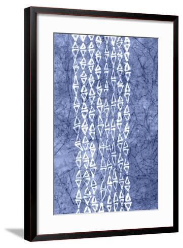 Indigo Primitive Patterns III-Renee W^ Stramel-Framed Art Print