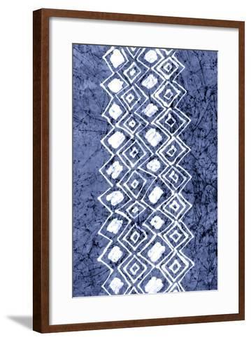 Indigo Primitive Patterns IV-Renee W^ Stramel-Framed Art Print